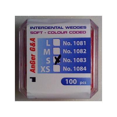 Interdentální klínky plastové, červené velikost S, 100 ks