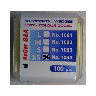 Interdentální klínky plastové, žluté velikost XS, 100 ks