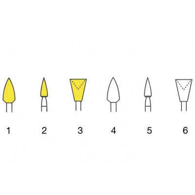 IDENTOFLEX leštění, žlutá, plamínek 12ks