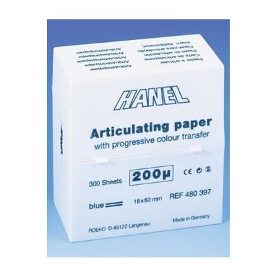 Artikul.papír Hanel 200 µ,zásobník 300ks,modrý,18x50mm