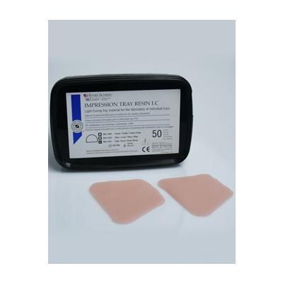 HS-pryskyřice nalžíce,růžová pro horní čelist, 50ks