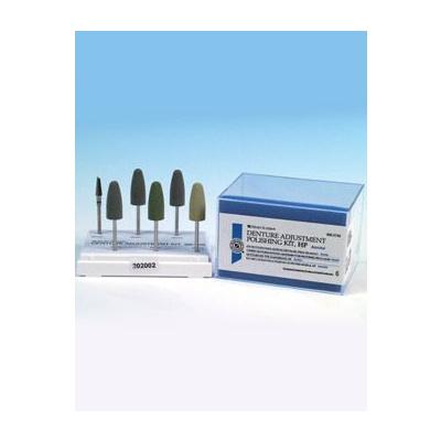 HS-silikonové leštící nástroje, hrubé NF, zelené, 6 ks