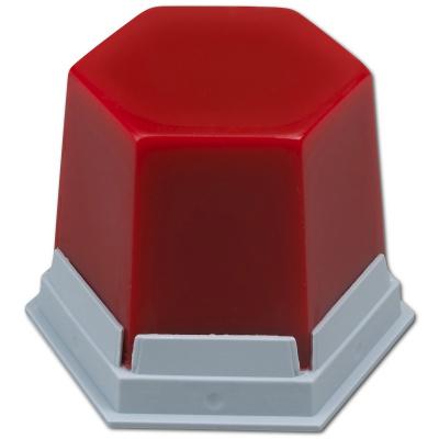 VOSK GEO Classic vykrývací, červený-transparentní, 75 g