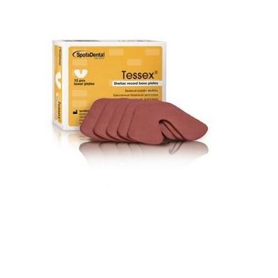 TESSEX, horní destičky / hnědé 12 ks