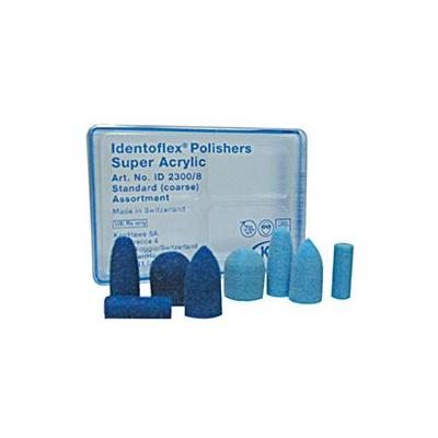 Super Acrylic Polishers, sv.modré, granát s dříkem 6ks