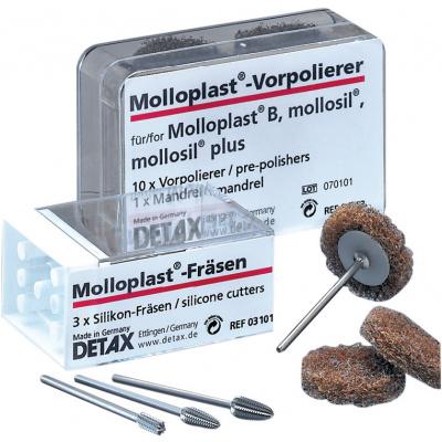 Molloplast -frézky, pro akryláty asilikony, 3 ks