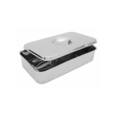 Krabička s rovným víkem/úch., nerez, 210x115x45 mm
