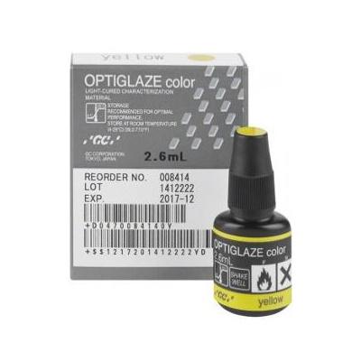 OPTIGLAZE color žlutá, stříkačka 2,6 ml