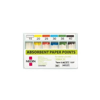 PAPÍROVÉ ČEPY absorbční kužel 0,04 ISO 030 kalibrované
