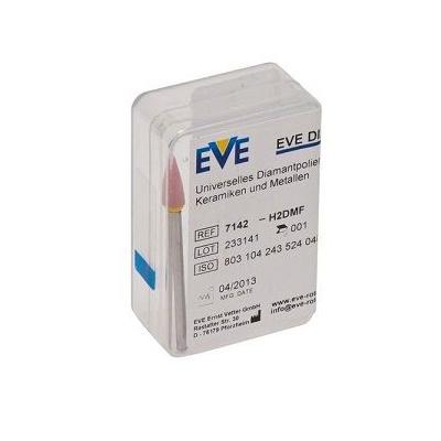 EVE DIAPOL H2DMF, s diam.prachem, špička, růžová, 1ks