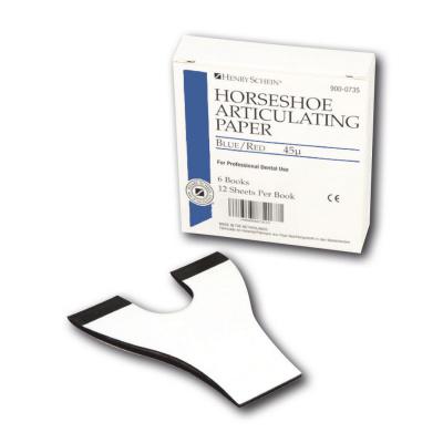 HS-artikulační papír, síla 45µ, mod/červ, podk. 6x12ks
