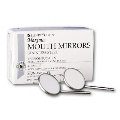 HS-zubní zrcátka, vel. 4 rovné, O22 mm, 12 ks