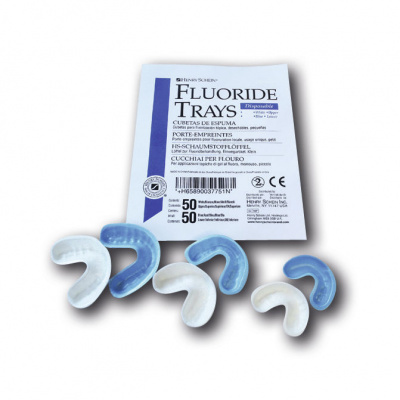 HS-Foam Tray, nosič, fluorid.aplik. lžíce pěnové, malé, 100ks