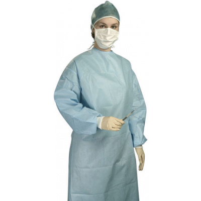 HS-OP sterilní operační plášť Classic modrý vel M  1ks QQ