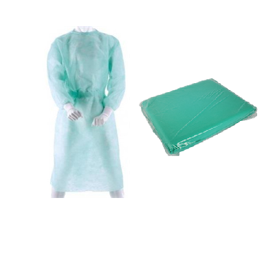 Sterilní plášť vel.XL, zelený, 1 ks