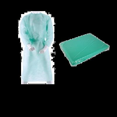 Nesterilní plášť vel.M, zelený, 1 ks