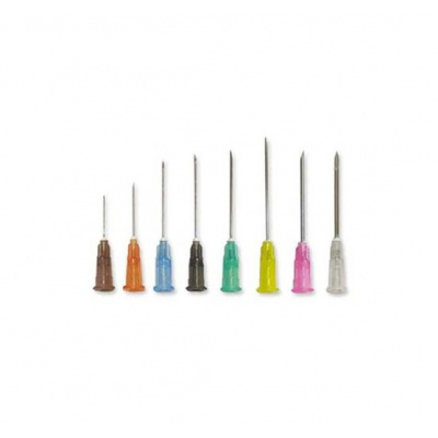 Injekční jehly MICROLANCE, 25G, oranžové 0,5x25 mm, 100 ks