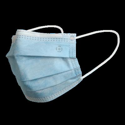Ústní rouška / Chirurgická obličejová maska modrá, typ IIR, 50ks