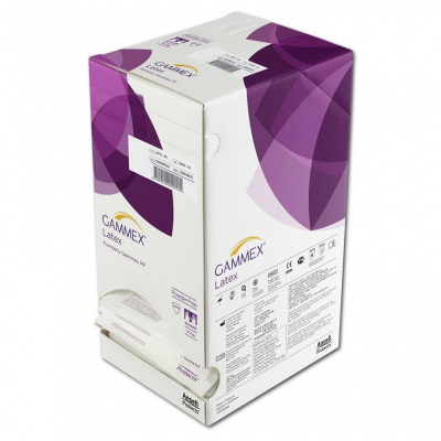 Gammex rukavice latexové sterilní nepudrované vel 8,0  50 párů
